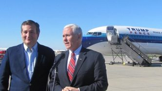 Ted Cruz Campaigning for Donald Trump, and Mike Pence